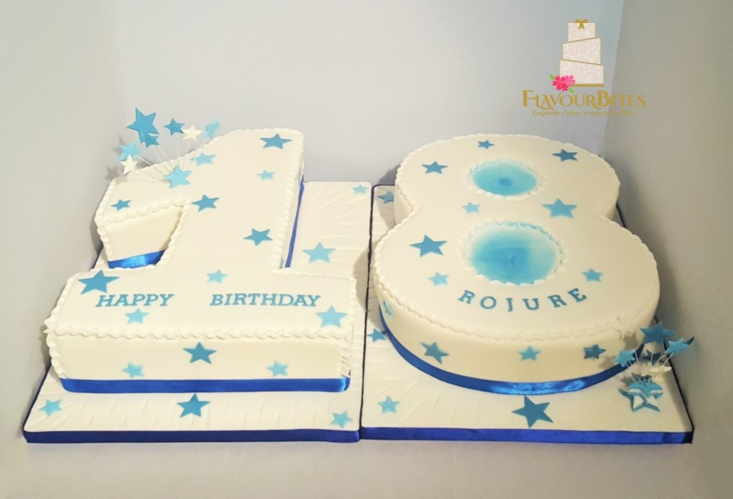 Terrific 18Th Birthday Number Cake Flavour Bites Cakes Funny Birthday Cards Online Inifofree Goldxyz
